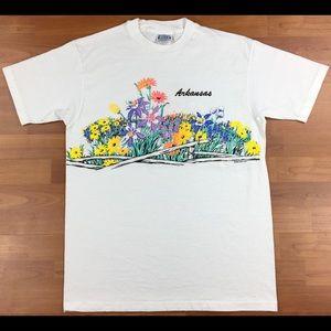Vintage 1990 Arkansas Flower Garden Puffy Print